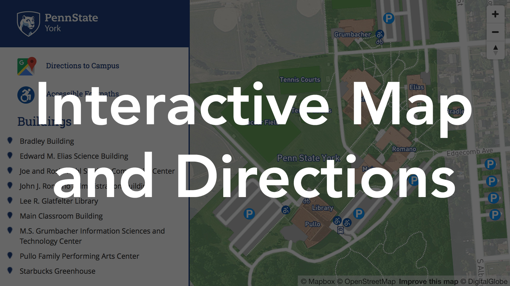 Campus Map and Directions | Penn State York