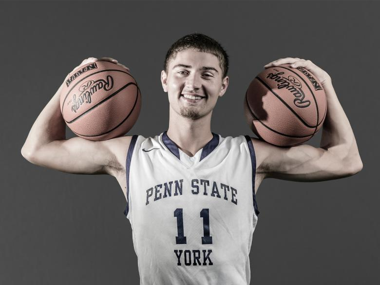 Penn State York Men's Basketball player