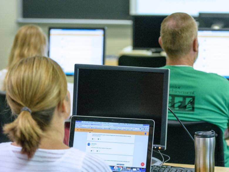 Adult Learners during a class.