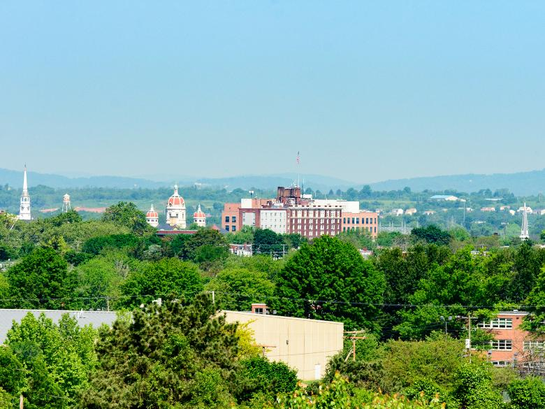 The view of York City from campus.