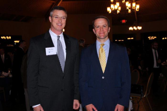 Photo of Michael Allen and Luke Tilley at the 2015 Corporate Partners Dinner