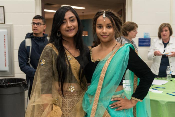 Students celebrating international dress.