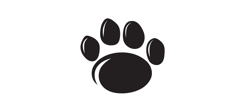 Penn State Paw Print black with outline