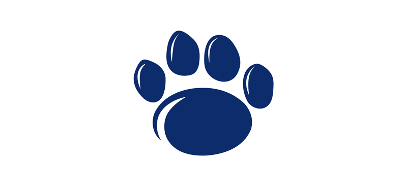 Penn State Paw Print blue with outline